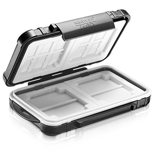 Neewer 10087177, Funda-maletín resistente al agua para el almacenamiento de tarjetas de memoria