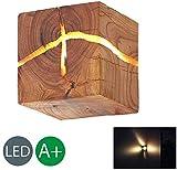 HOIHO Bois Crack Split bois Mur lampes créative originale en bois massif conduit lampe de chevet allées lumières décoratives petite nuit lumière commerciale bois mur lampe