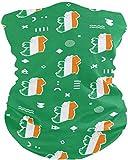 Miedhki Halsmanschette Schlauchmaske Irland Flagge Nackenwärmer Gamasche Sturmhaube Skimaske Kopfbedeckung