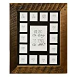 School Years Reclaimed Wood Picture Frame with Mat - 11x14 Wooden Framed Photo Collage Mat – Pre-School & Kindergarten to 12th Grade High School Graduation (15 Photos, 2 Pre School - 12th, Black Mat)