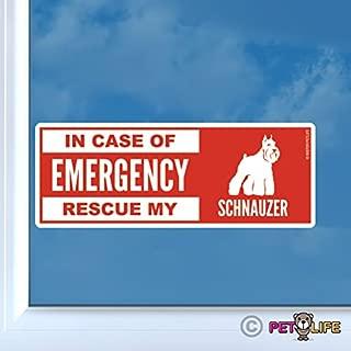 in Case of Emergency Rescue My Schnauzer Sticker Vinyl Auto Window Dog Safety v2