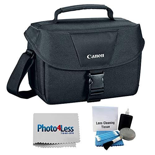 Canon Genuine Padded Starter Digital SLR Camera Lens Case Gadget EOS Shoulder Bag For T3 T3i T4i T5 T5i T6s T6i SL1 70D 60D 50D 7D 6D + Photo4less Cleaning Cloth and Camera & Lens 5 Piece Cleaning Kit