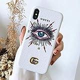 TIEKOUN iPhone 8 Plus Case, iPhone 7 Plus Case, Street Fashion Luxury Elegant PU Leather New Graphic Style Hard Cover Case for iPhone 7/8 Plus Case -Fashionable White