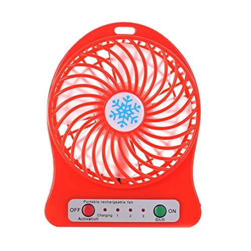 Portable Rechargeable Led Light Fan Air Cooler Mini Desk Usb Fan 18650 Battery