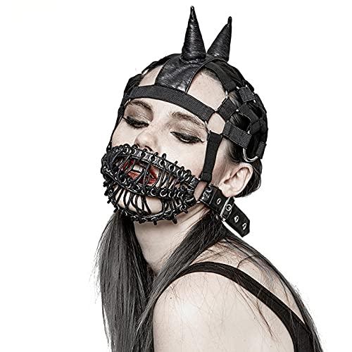 Mapeieet Mscara de Vapor Punk Fiesta de Cosplay Cuero de PU Sexy Cosplay Anime Mscara de Mascarada gtica,Negro,33.8 * 48cm