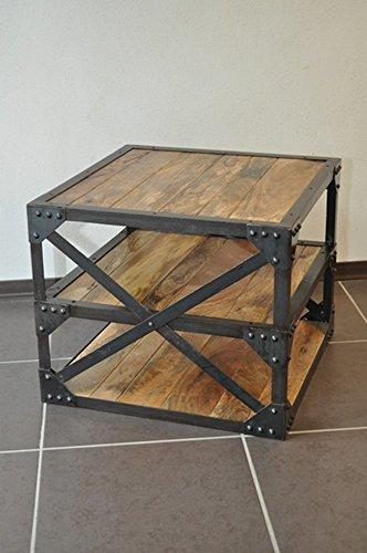 deco du diois Table Basse Industrielle Structure Acier et Bois