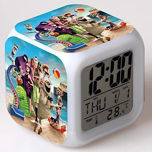 Wizard Hostel Alarm Clocks Kids LED Clock Cartoon Night Light Flash 7 Color Changing Digital Clock Electronic Desk Clock,Style 26, Birthday