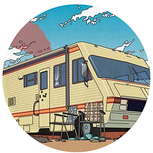 Breaking Bad Circular Alfombra Antideslizante Manta Dormitorio Sala de Estar Lavable a máquina decoración del hogar Piso Lindo Cuarto de Juegos niños