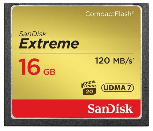 SanDisk Extreme CompactFlash Scheda di Memoria 16 GB, 120 MB/s