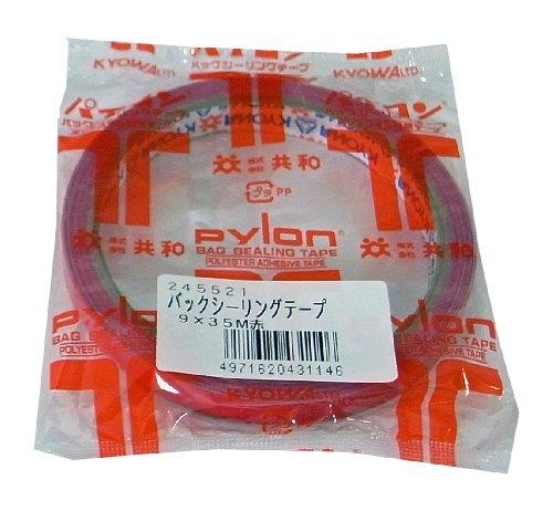 共和 袋の口止め、ネックシール用 バックシーリングテープ#25 幅9mm 長さ35m 赤