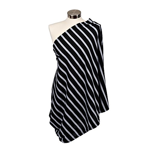Amazing Deal Itzy Ritzy Infinity Breastfeeding Scarf-Cotton/Poly Blend-Platinum Stripe