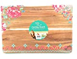 The Pioneer Woman Acacia Wood Cutting Carving Board, Garden Party, 12x18'