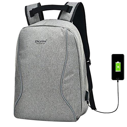 SUPA MODERN® Sac à dos unisexe en nylon antivol avec port de charge USB pour ordinateur portable pour adolescents, filles et garçons