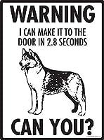 警告2.8秒でドアに到着できます金属ブリキ看板ホーム装飾壁アート