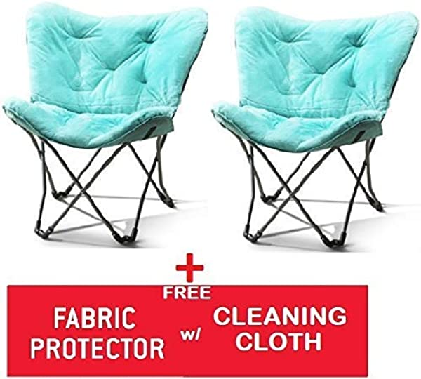 Mainstay Butterfly Chair Standard Butterfly Spearmint Faux Fur 2 Sets W FREEBIES
