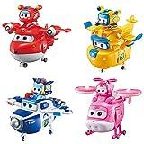 BESTWALED Super Alas(Jett,Donnie,Paul,Dizzy) Temporada 9 Super Mascotas+Deformado Robots,Magnético Resplandor Juguete Juguetes De Niños Inercia Rueda Cumpleaños Regalo