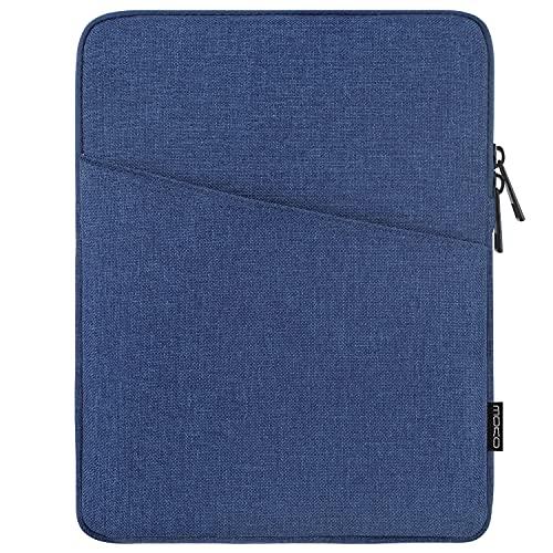 MoKo 9-11 Pollici Custodia Compatibile con iPad 9a 8a 7a Gen 10.2, iPad PRO 11 2021/2020/2018, iPad Air 4 10.9, iPad Air 3 10.5, Borsa per Tablet in Poliestere con Tasca a Cerniera, Blu Marino