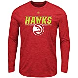 Majestic Athletic Atlanta Hawks NBA Herren Thrill A Minute Long Sleeve Performance T-Shirt -