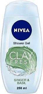 NIVEA Clay Fresh Ginger & Basil Shower Gel, 250 ml