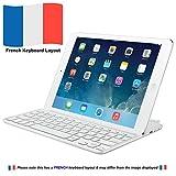 Logitech -Couvercle de clavier Bluetooth à pince magnétique Logitech Ultrathin pour iPad mini 1/2/3 (pas 4), blanc