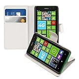kwmobile Nokia Lumia 625 Hülle - Kunstleder Wallet Case für Nokia Lumia 625 mit Kartenfächern & Stand - Weiß