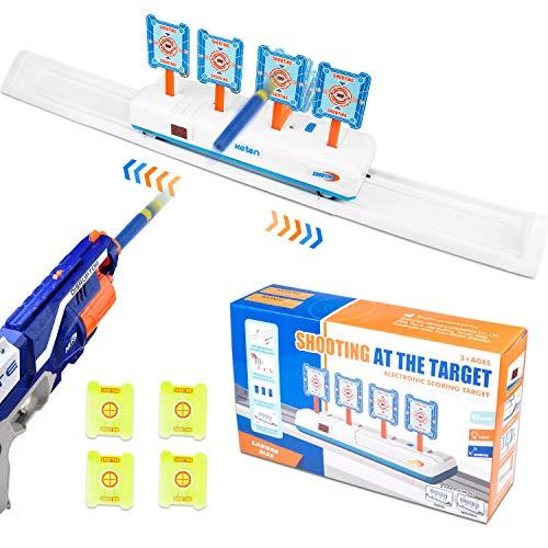 Keten 2020 Bewegliches Digitale Zielscheibe für Nerf Guns, Auto Reset Elektrisch Zielscheibe mit Ton und Lichteffekt, ScoringTarget für Nerf N-Strike Elite/Mega/Rival Series(Nur Ziel)
