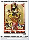 Enter The Dragon Bruce Lee Poster Randlos Vibrant Premium