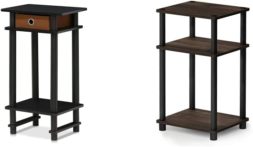 Max 62% OFF FURINNO 17017 Turn-N-Tube End Table 3-T Just 1-Pack free shipping Espresso