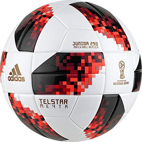 adidas Herren FIFA Fussball-Weltmeisterschaft Knockout Junior Ball, White/Solred/Black, 4