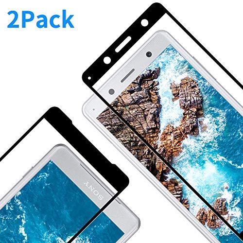 Protector Pantalla para Sony Xperia XZ2 Compact, [2 Piezas] Cristal Templado para Sony XZ2 Compact, [3D Cobertura Completa] [9H Dureza] [Resistente a Arañazos] Vidrio Templado para XZ2 Compact