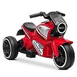 Playkin Moto Kid - Moto electrica niños bateria 6V Recargable Triciclo +24 Meses Juguetes Infantiles Triciclo correpasillos, Rojo
