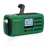 Retekess HR11S Solar Radio Dynamo, AM FM SW Kurbelradio, Camping Radio Wiederaufladbare, mit...