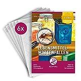 Plantura Lebensmittel-Mottenfallen, 6 Pheromonfallen für Lebensmittelmotten, geruchlos, insektizidfrei