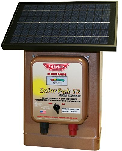 Parmak Magnum Solar-Pak 12 Low Impedance 12 Volt Battery Operated 30 Mile Range Electric Fence Charger MAG12-SP