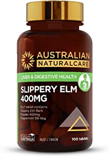 Australian NaturalCare - Liver & Digestive Health - 400mg Slippery Elm Tablets (100 Count)