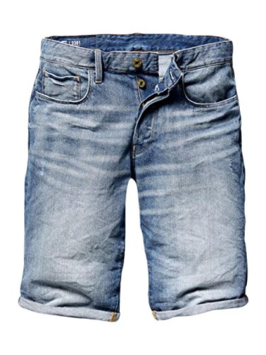 G-STAR RAW Herren Sato Denim Shorts, Blau (Medium Aged), 56