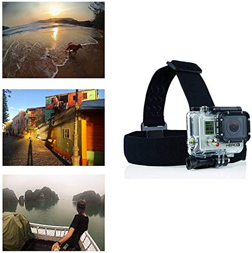 Navitech Adjustable Elastic Head Helmet Strap Mount - Compatible with The IceFox 4K Action Camera