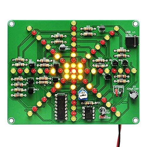 Gikfun Electronic LED Flashing Lights Soldering Practice Board PCB DIY Kit EK1874