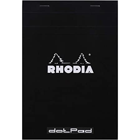 Rhodia Head Stapled Pad, No16 A5, Dot - Black