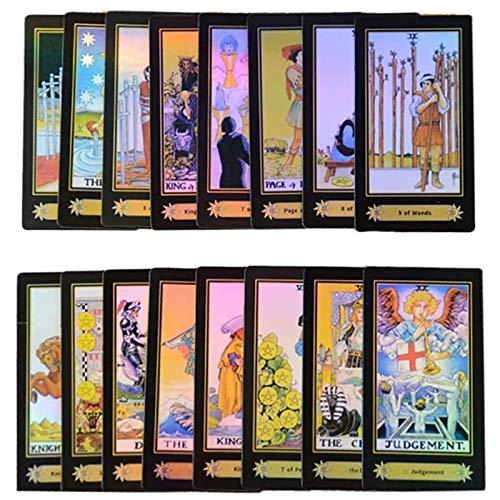 YTTde 78 Anfänger Tarotkarten Schicksalsprognose Karten Spielset Universal Vintage Divination Schicksalsprognose Kartenset Für Wahrsagerei, Brettspiele