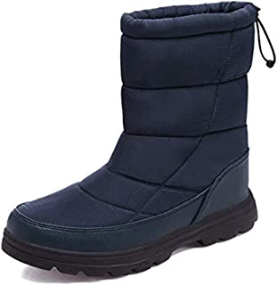 Tricherry Unisex Winter Snow Boots Ankle Boots Cold Weather Warm Shoes with Full Plush