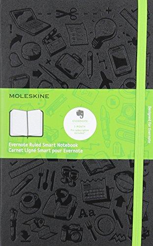 Moleskine Evernote Smart Notizbuch, Liniert, Groß, A5, Hard Cover, schwarz