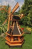 Deko-Shop-Hannusch Windmühle, 1,30 m, Windmühlen mit Beleuchtung Solar, Solarbeleuchtung...