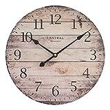 Reloj de pared perla pd design, reloj de cocina, diseño vintage, aprox. Diámetro: 28 cm, madera, Múnich