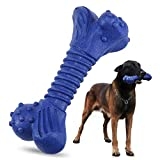 Dog Chew Toys for Aggressive Chewers Tough Durable Strong Natural Rubber Dog Bone Toy for Large Dogs Molar Dental Teeth Cleaning Puppy Teething Toy
