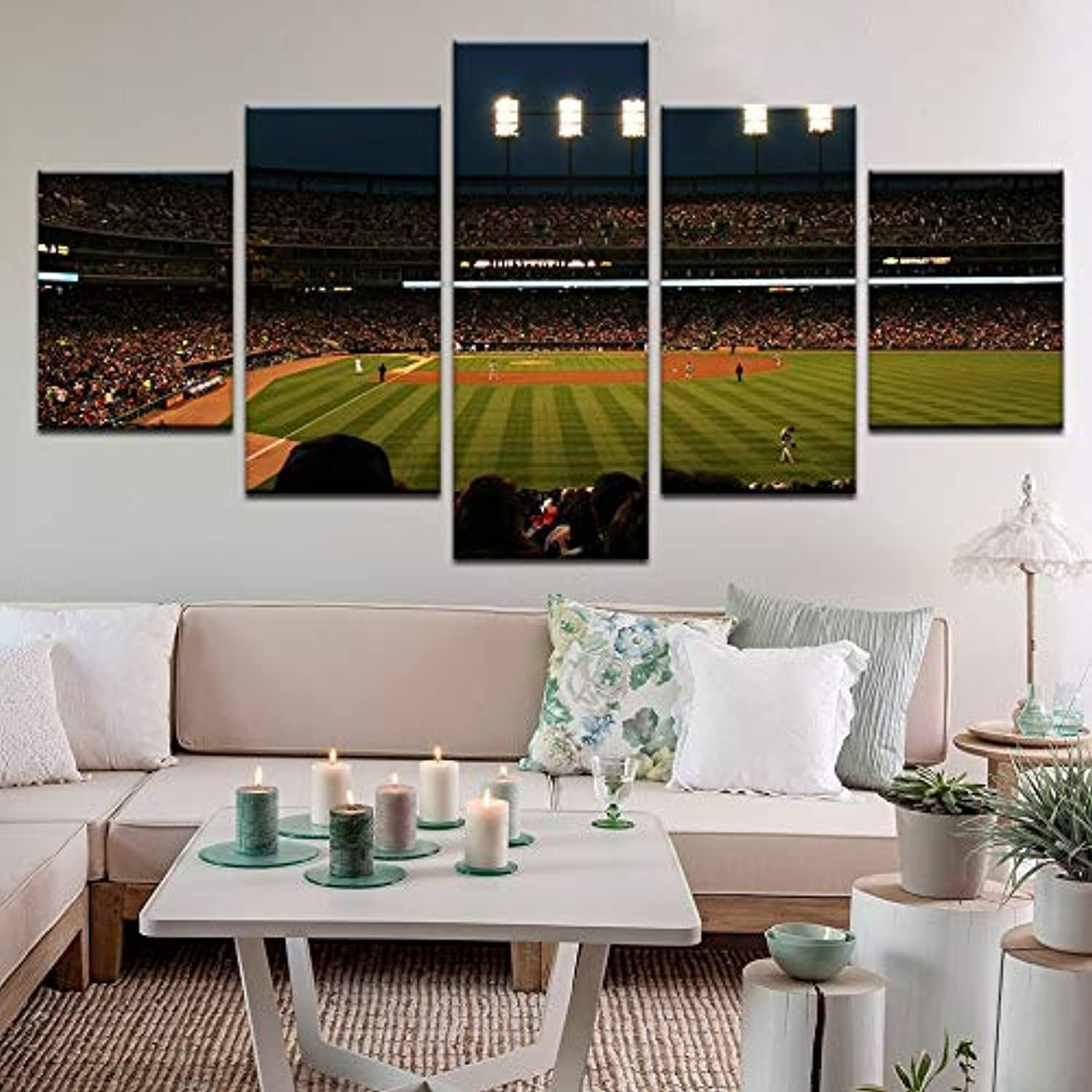 5pcs HD The Football Field Sports Poster Print Canvas on Wall Art for Home Decoration Oil Painting Canvas Living Room Wall