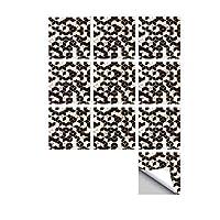 幾何学スタイルタイルステッカー20個キッチンbacksplashのバスルームの壁紙防水ピールスティック壁飾り(ブラック・ホワイト),Black 02,6x6 inch