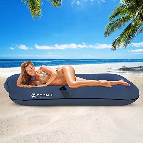 ZOMAKE Inflatable Lounger Couch, Anti-Air Leaking & Waterproof Air Sofa for Beach, Backyard, Camping, Picnics, Music Festivals
