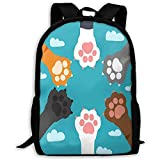 Animal Paws Print Mochila para Adultos Mochila de Viaje Bolsas de Negocios Laptop Ligera para Estudiantes para Hombres y Mujeres