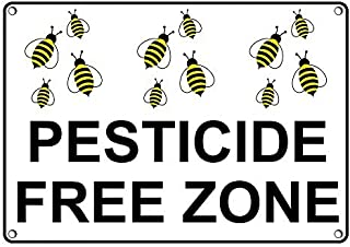 Weatherproof Plastic Pesticide Free Zone Sign with English Text and Symbol